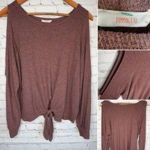 Hummingbird cold shoulder sweater size M